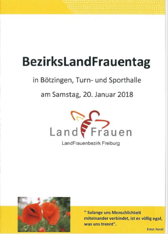 BeziksLandfrauenTag 20. Januar in Bötzingen